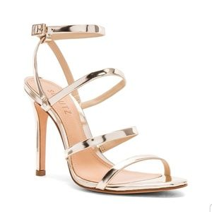 Schutz Ilara Heel in Metallic Gold